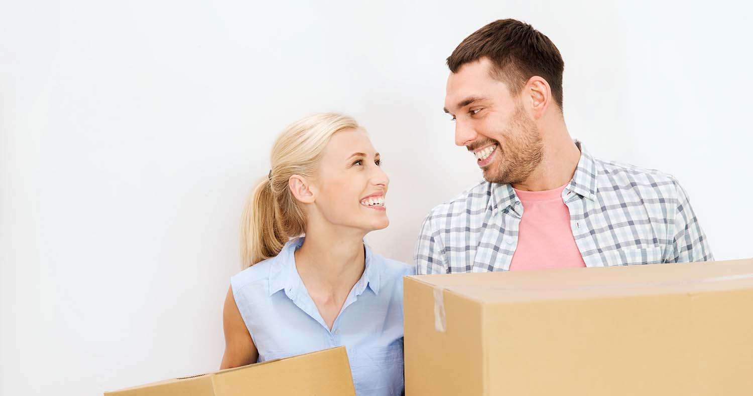 couple with package