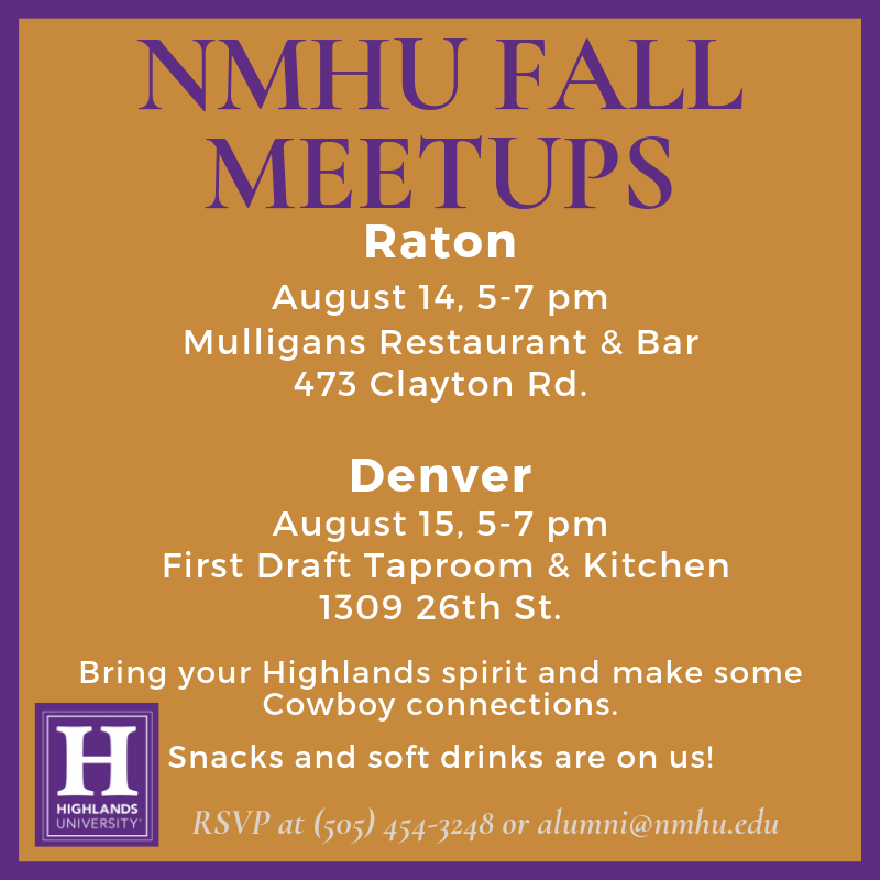NMHU Fall Meetups